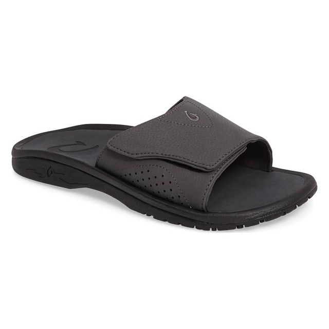 Olukai Nalu Slide Dark Shadow/ Dark Shadow