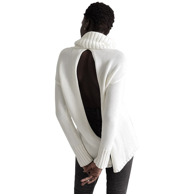 One Teaspoon Thick White Pure Roll Neck White
