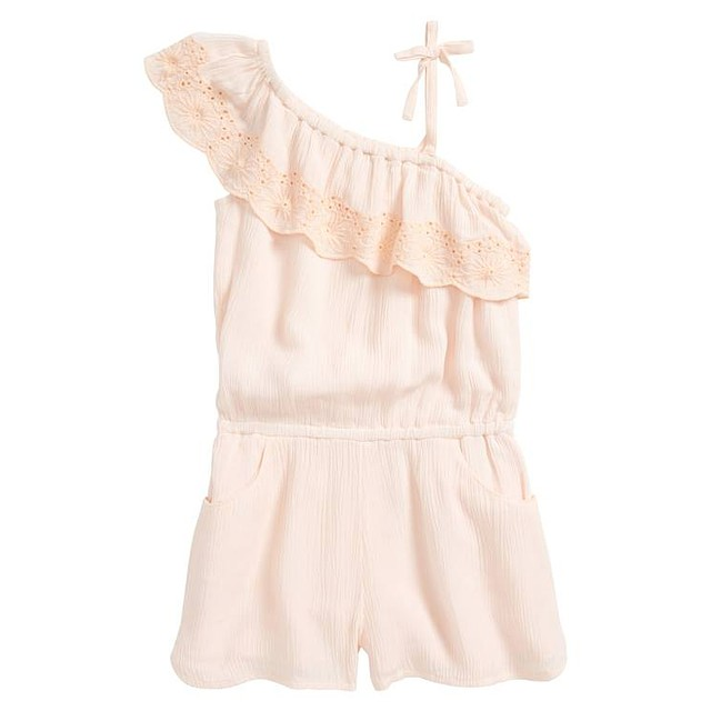O'neill G Lanai One Shoulder Romper Peach