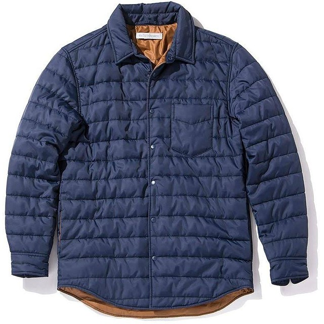 Outerknown Quilted Evolution Shirt Admiral Blue