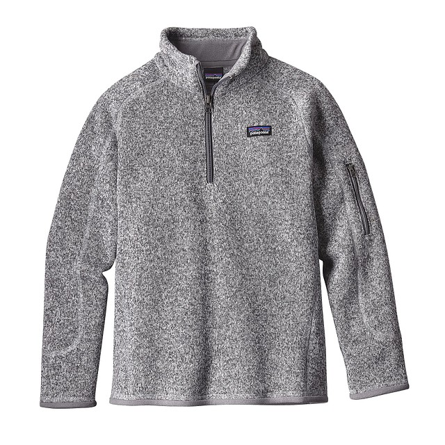 Patagonia G Better Sweater 1/4 Zip Birch White