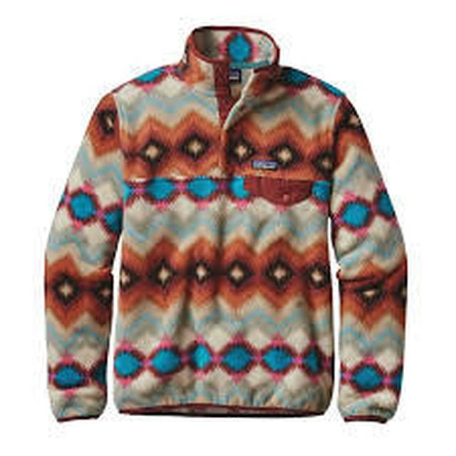 Patagonia Lightweight Synch Snap-T Timber Twist: Cinder Red