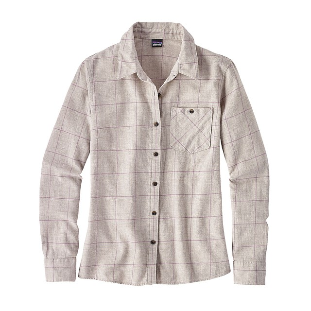 Patagonia W Heywood Crafted Plaid; Birch White