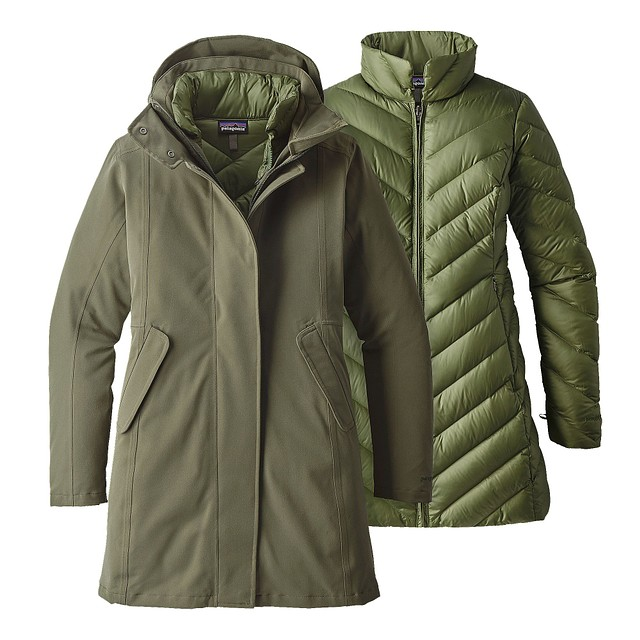 Patagonia W Tres 3-In-1 Industrial Green