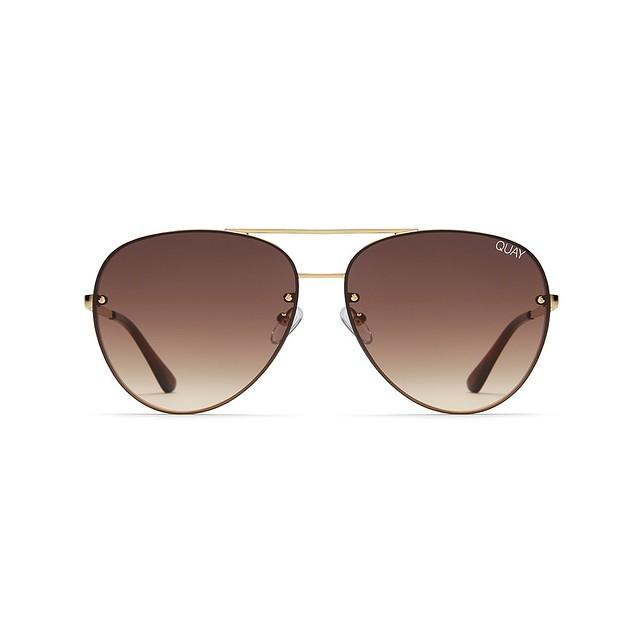 Quay Australia Cool Innit Gold / Brown