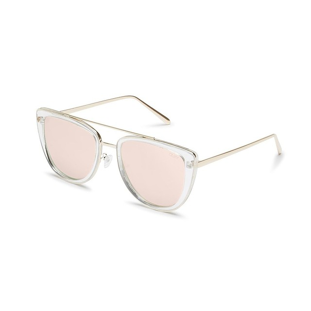 Quay Australia French Kiss Clear/ Rose Gold