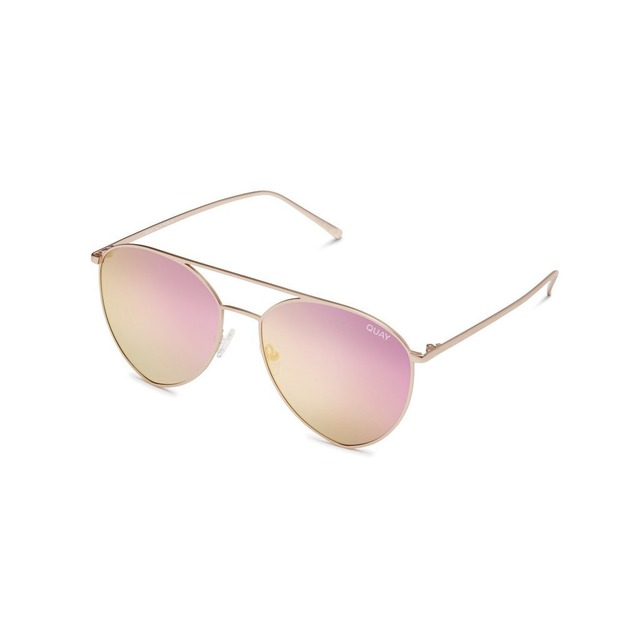 Quay Australia Indio Gold/ Pink Mirror