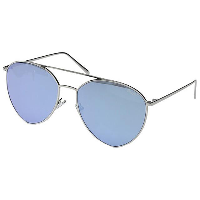 Quay Australia Indio Silver/ Blue Mirror