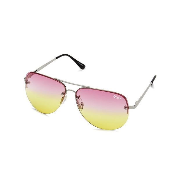 Quay Australia Muse Fade Silver/ Pink Yellow Fade