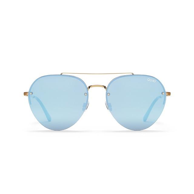 Quay Sunglasses Somerset Gold / Lilac Mirror