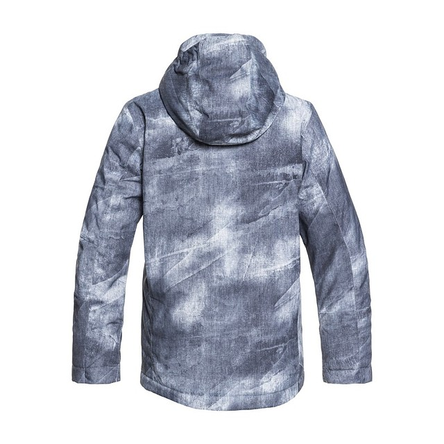 Quiksilver Youth Mission Printed Grey Simple Texture