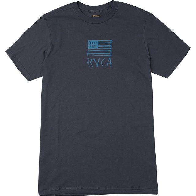 RVCA BOY'S HORTON FLAG T-SHIRT Classic Indigo