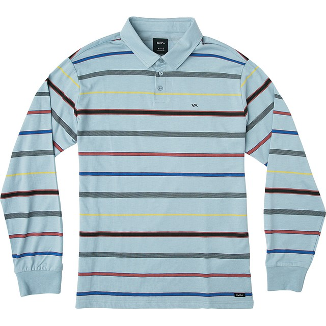 RVCA Sure Thing Polo Blue Stripe
