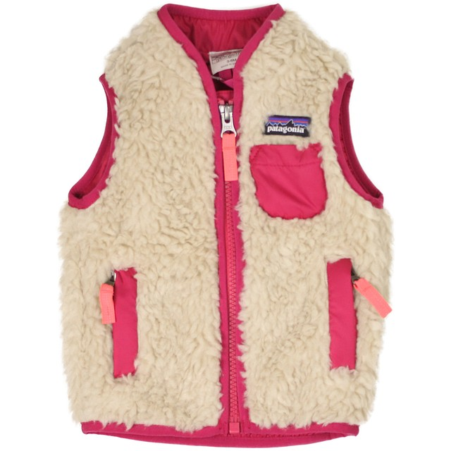 Patagonia Retro-X Vest Natural W/ Craft Pink