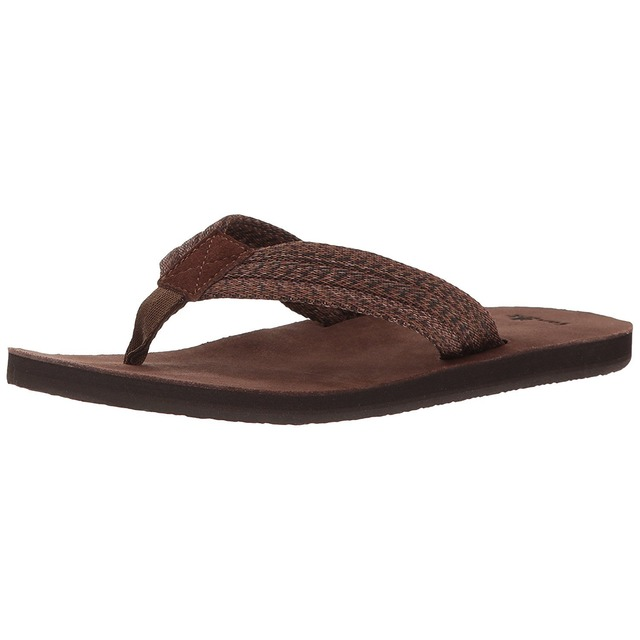 Sanuk Fraid Webbing Dark Brown