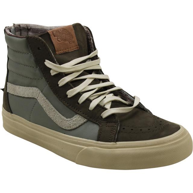 Vans Sk8-Hi Zip (Leather/Nubuck/Suede) Brown