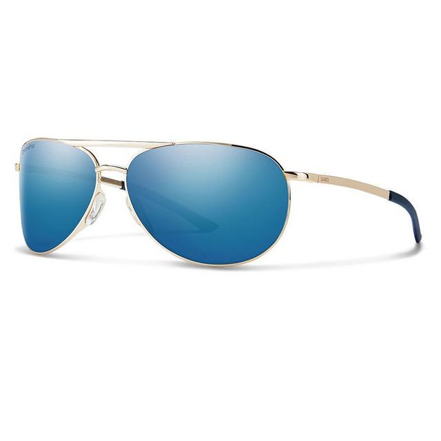 Smith Serpico Slim 2.0 Gold/ ChromaPop Polarized Blue Mirror