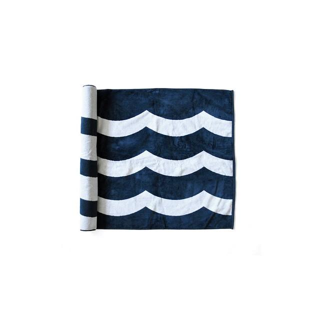 Sol-Angeles Waves Beach Towel Indigo