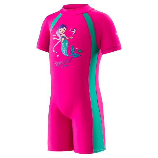 Speedo Begin to Swim Unisex Sun Suit Electric Pink