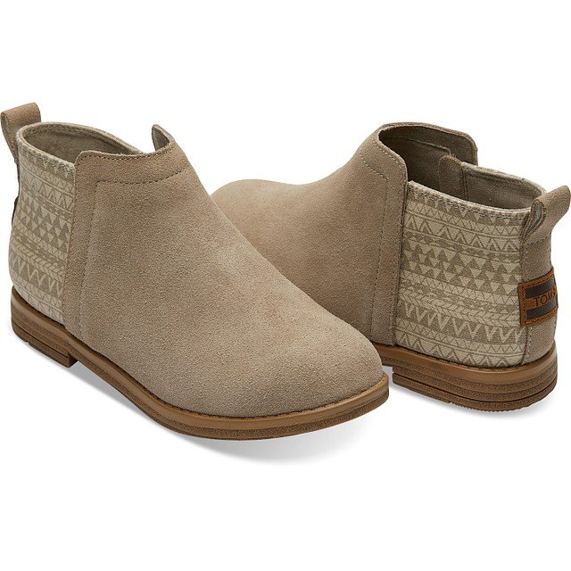 TOMS Youth Deia Desert Taupe Geo