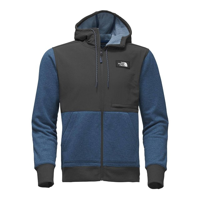 The North Face M Tech Sherpa Hoodie Shady Blue Heather