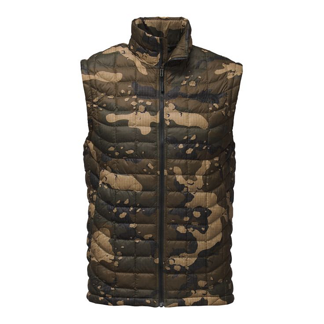 The North Face M Thermoball Burnt Olive Green Woodchip Camo Print