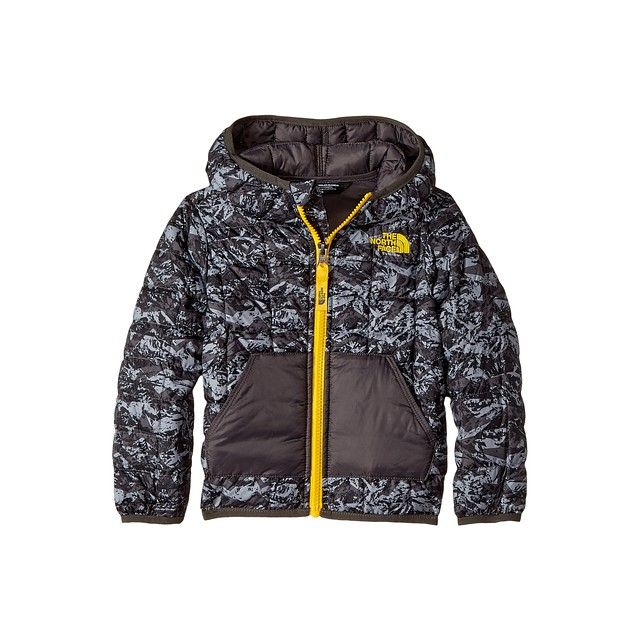 The North Face Toddler Thermoball Hoody Graphite Grey Geo Mountain Print