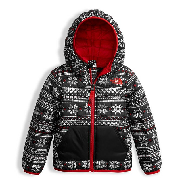 The North Face Toddler Thermoball Hoody TNF White Holiday Fair Isle Print