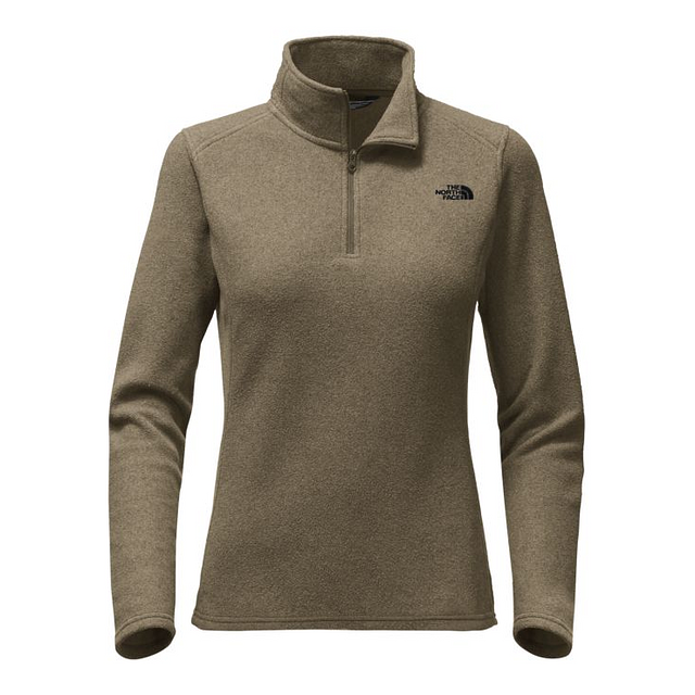 The North Face W Glacier 1/4 Zip New Taupe Green Heather