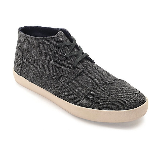 Toms Shoes Paseo Mid Grey Herringbone