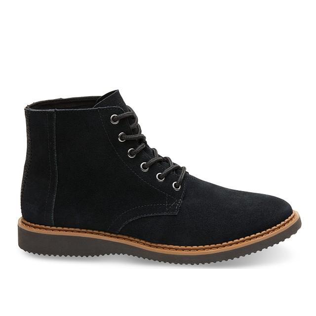 Toms Shoes Porter Black Suede