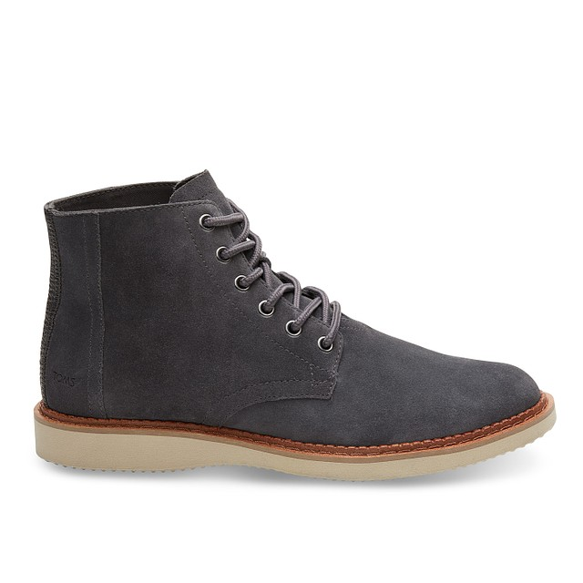 Toms Shoes Porter Forged Iron Grey Suede