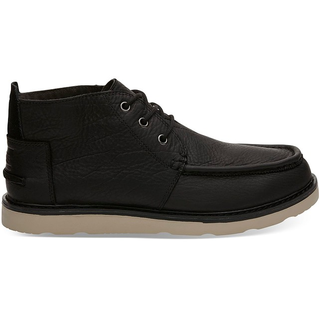 Toms Chukka Waterproof Black Leather