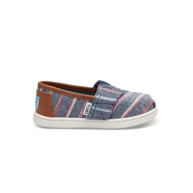 Toms Classic Slip-On Navy Multi Stripe