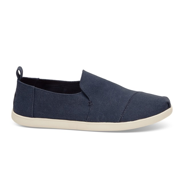 Toms Deconstructed Alpargata Navy Washed Canvas