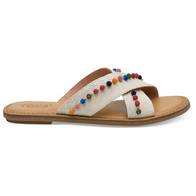 Toms Viv Natural Hemp/Pom Poms