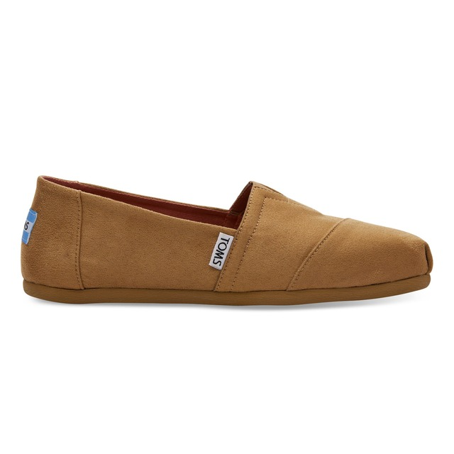 Toms Womens Classics Toffee Microfiber