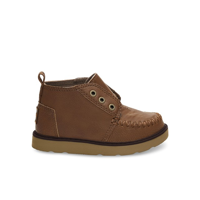 Toms Youth Chukka Brown Synthetic Leather