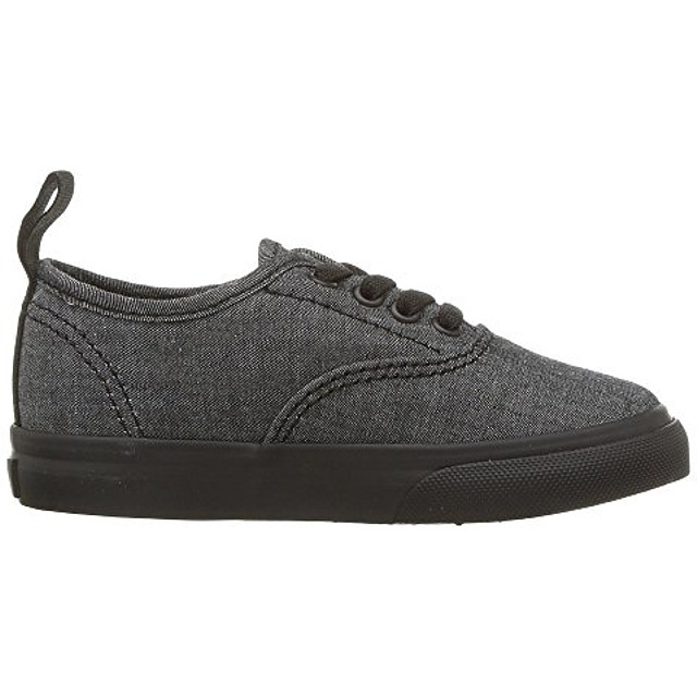 Vans Authentic Elastic Sneakers (Mono Chambray) Black/Black