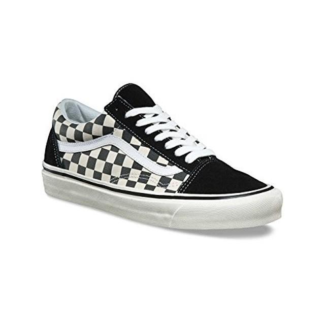 black checkerboard vans old skool