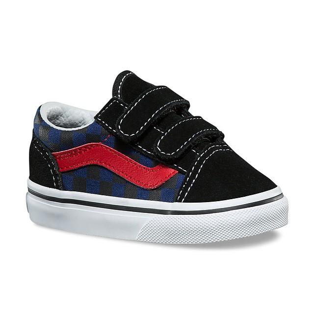 Vans Old Skool V (Checkerboard) Black/ Blue Depth