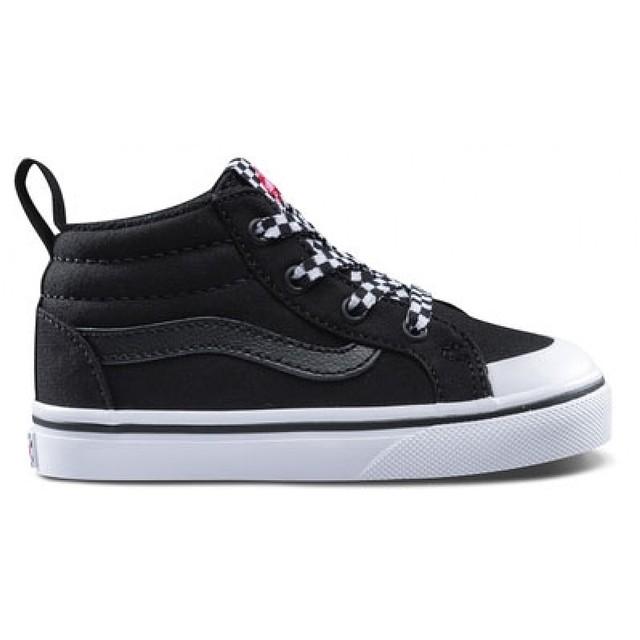 Vans Racer Mid (Check Lace) Black / True White
