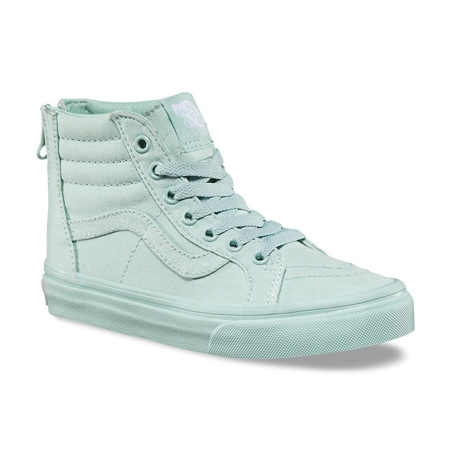 Vans SK8-Hi Zip Sneakers (Mono) Harbor Grey/ Glitter