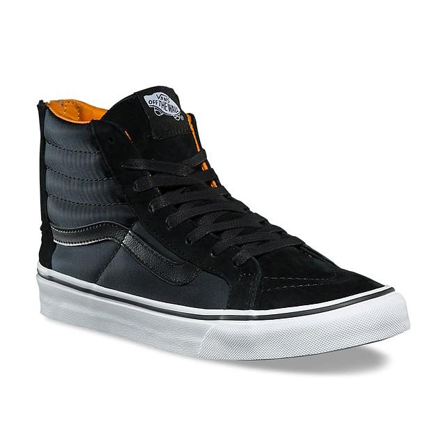 Vans Sk8-Hi Slim Zip (Boom Boom) Black/ True White