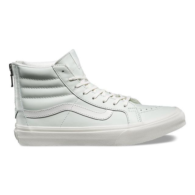 Vans Sk8-Hi Slim Zip Leather Zephyr Blue/Blanc De Blanc