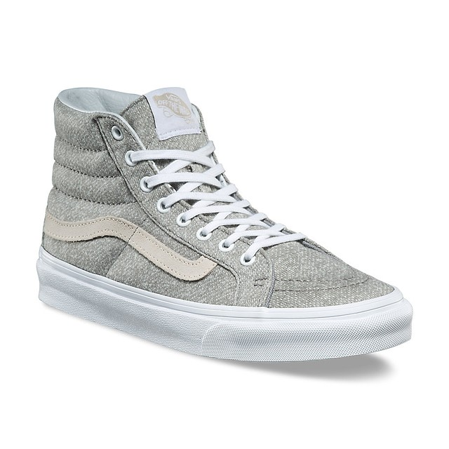 Vans Sk8-Hi Slim (J&S) Frost Gray/ True White
