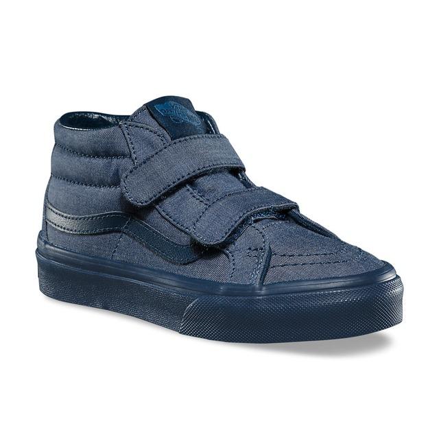 Vans Sk8-Mid Reissue V Sneaker (Mono Chambray) Navy/Navy