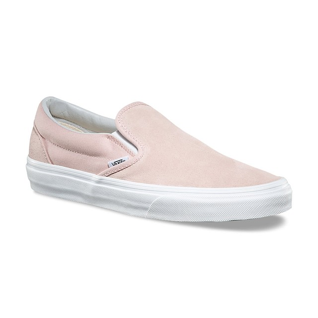 Vans Womens Classic Slip-On (Suede) Sepia Rose