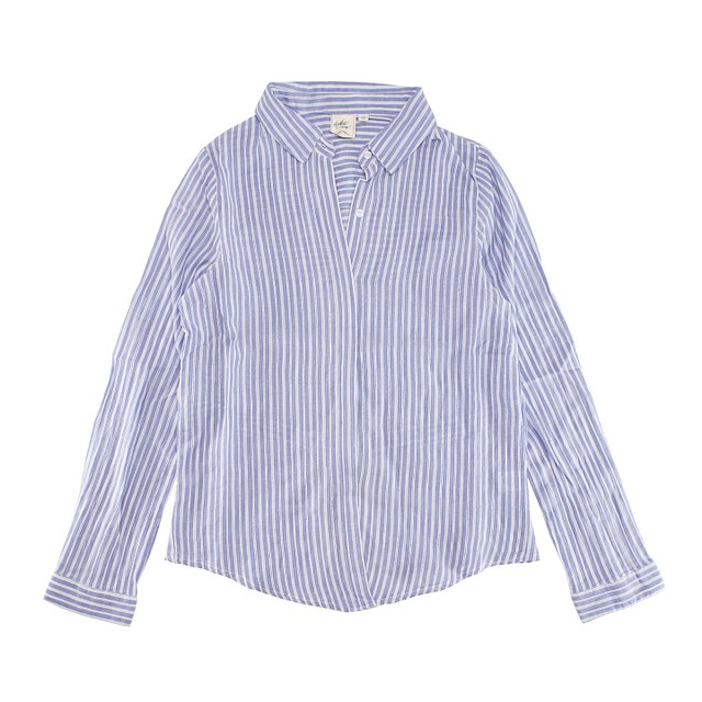 White Crow Clearest Blue Stripe Chambray