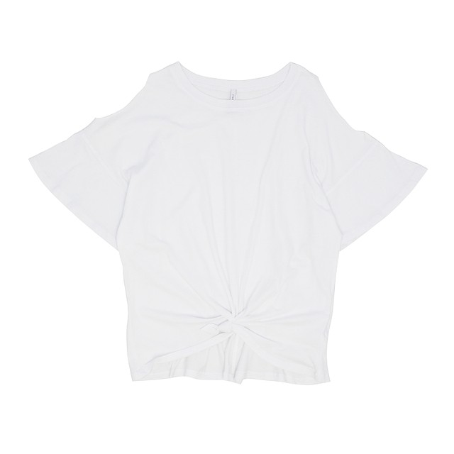 Z Supply The Knotted Front Tee White